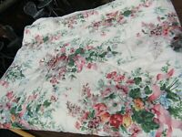 Croscill Quilted/Lined Shabby Chic Ribbons & Roses Floral Twin Size Bedspread