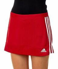 adidas T16 Ladies Hockey Skort Climalite Womens Girls Sport Skirt & Shorts Red XL