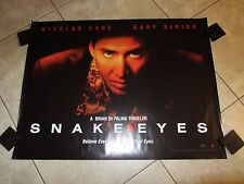 Snake Eyes movie poster - Nicolas Cage poster Brian De Palma - uk quad poster