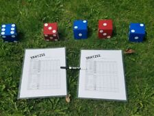 Red White Blue 4th of July Wood Yard Lawn Game Dice Yahtzee Yardzee MADE IN USA