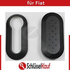 Fiat Schale Autoschlüssel Schwarz Punto 500 Bravo Cover Dablo Plastik Hülle Neu