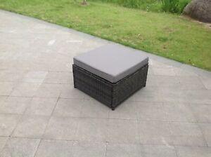 Rattan Big Footstool Outdoor Garden Furniture patio furniture grey