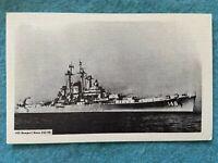 USS Newport News Vintage Ship Postcard