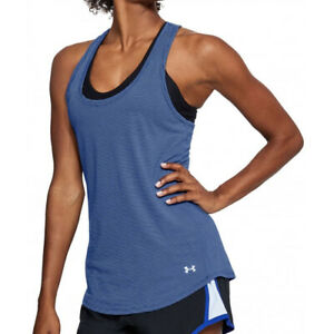 Under Armour UA Threadborne HeatGear Ladies Streaker Tank Sports Running Vest