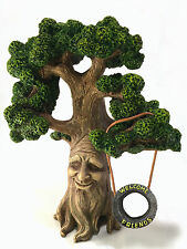 Fairy and Garden Gnome Tree - Enchanted Grandpa Miniature Tree For Fairy Garden