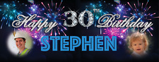 Large Personalised Birthday Party Banner Decorations 18th/21st/30th/40th/50th