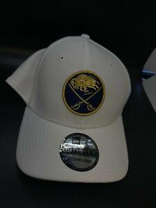 Buffalo Sabres New Era NHL 39thirty Hat Cap Size Med LG 50th anniversary GOLD