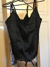 Queen Of Darkness Corset Vest Top Size S Gothic, Pinup, Biker,