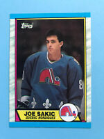 JOE SAKIC ROOKIE 1989-90 TOPPS Hockey Card #113 QUEBEC NORDIQUES