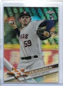 """2017 Topps Chrome #120 JOE MUSGROVE RC """"Prizm Refractor"""" parallel rookie card"""