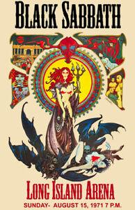 Black Sabbath Concert Poster Reprint Live Long Island 11x17 Quality Poster