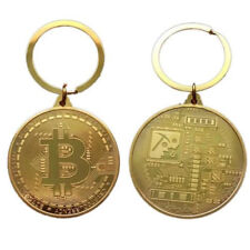 Collectors Coin BitCoin Key Ring Keychain Gifts GOLD