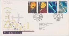 GB ROYAL MAIL FDC 1991 SCIENTIFIC ACHIEVEMENTS STAMP SET BUREAU PMK