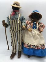 Vintage Apple Head Dolls - Original Clothing! Folk Art Carved Axe Doll Hand Made