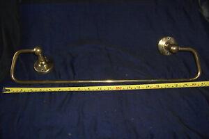Vintage brass towel rail 52cm long hand rail bathroom reclaimed used item