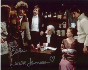 Doctor Who Photo Signed In Person By Tom Baker and Louise Jameson - B882