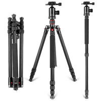 """Neewer Carbon Fiber 66"""" Camera Tripod Monopod with 360 Ball Head Load up to 12KG"""