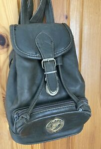 Flavio Ferre Small Khaki Leather Backpack