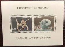 MONACO bloc spécial n° 20 Europa dentelé 1993 Art Contemporain ND, TB **  ! 155€