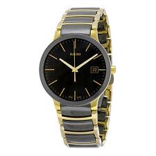 Rado Centrix Black Dial Gold PVD Black CEramic Mens Watch R30929152
