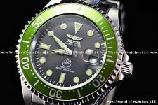 New Invicta Men's 47mm Grand Diver Automatic Green Bezel Silver Case SS Watch