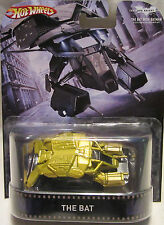 "Hot Wheels CUSTOM THE BAT VEHICLE-GOLD""The Dark Knight"""