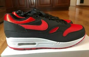 Nike By You ID Air Max 1 Black Red Bred CN9671 991 Men's Size 8.5