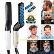 Multifunctional Men's Quick Beard Straightener Hair Comb Curling Curler Show Cap