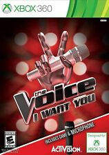 The Voice I Want You RE-SEALED MICROSOFT XBOX 360 GAME NO MIC