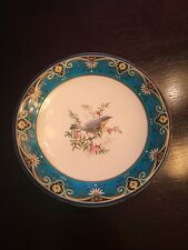 minton christopher dresser compote footed plate turquoise chinoiserie aesthetic