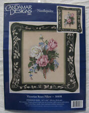 "Candamar Designs Needlepoint Kit*Victorian Roses Pillow*14"" x 14""*Sealed*30908"