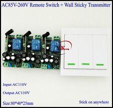 AC120V AC110V AC220V AC230V AC240V Wall Wireless Remote Transmitter Receiver