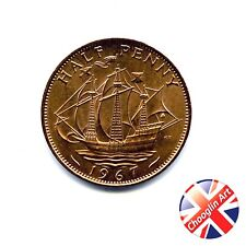A 1967 British Bronze ELIZABETH II HALFPENNY Coin  (UNCIRCULATED)