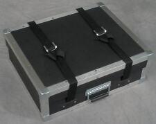 Hard tabletop tradeshow equipment display carrying case w/metal edges & handle