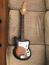 Vintage Tele-Star Teisco Guitar Olympic Wood Look  Japan L1