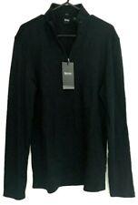 New HUGO BOSS Slim Fit Dark Blue Jersey shirt Size L LG NWT $128. Long Sleeve