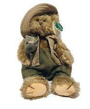 "Bearington Collection Bear 13"" Plush Mack & Earl Fisherman"