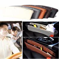 2x PU Leather Catch Catcher Box Caddy Car Seat  Slit Pocket Storage Organizer