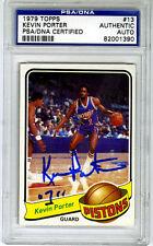 Kevin Porter SIGNED 1979 Topps Card Detroit Pistons PSA/DNA  AUTOGRAPHED