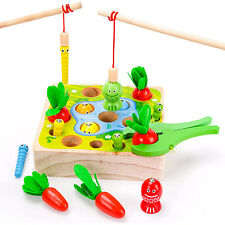 Angelspiel,Magnet Angeln Spiel Holzspielzeug,Montessori Spielzeug,Lernspielzeug