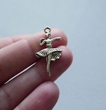 10Pcs Dance Charms for Bracelet Antique Silver Ballet Ballerina Pendant Findings