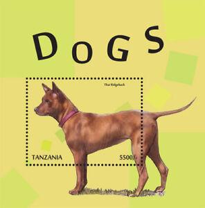 Tanzania 2014 - Dogs Stamp Souvenir sheet MNH