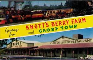 (uld) Postcard: Greetings From Knott's Berry Farm and Ghost Town