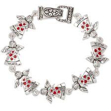 NEW Winged Angel Nurse RN Love Nursing Caregiver Hearts Magnetic Clasp Bracelet