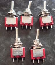 Pack of 5 On/Off/On Toggle Switches All Gauges Brand New