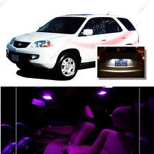 For Acura MDX 2001-2006 Pink LED Interior Kit + Xenon White License Light LED