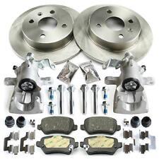 2x Bremssattel + Bremsbeläge + Bremsscheiben 4-Loch hinten Opel Astra G Bremsen