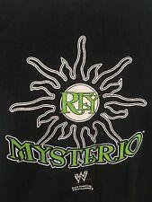 REY MYSTERIO T-Shirt Adult Medium Black WWE WWF WCW Wrestling 100% Cotton