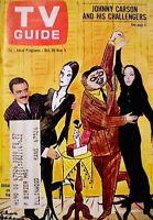 TV Guide 1965 The Addams Family John Astin Carolyn Jones #657 Halloween VTG VG