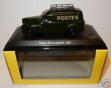 NOREV PEUGEOT 203 COMMERCIALE FOURGONNETTE 1950 POSTES POSTE PTT IN LUXE BOX
